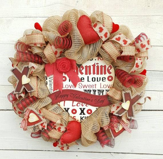 Happy Valentine's Day Wreath