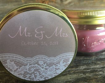 Wedding Favors | Wedding Candle Favors | Wedding Guest Favors | Mason Jar Favors | Mason Jar candles