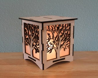 Tree Silhouette NightLight Laser Cut Lamp