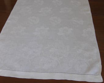 Lovely Flowered Damask Table Runner