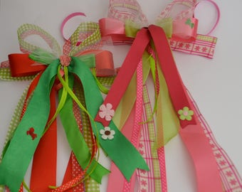 Large gift bow for Kindercone, School cone or any gift in the  country house style