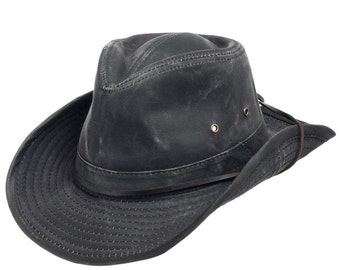Indy Weathered Shapable Outback Hat Chin Cord