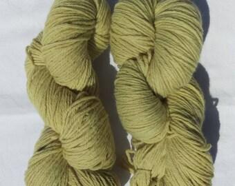 Zingy yellow/lime BFL & nylon DK