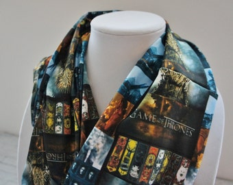 GAME OF THRONES scarf, infinity scarf, scarf for men, men scarf, husband gift, John Snow, House of Stark, teen scarf, teen gift, birthday