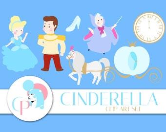 60% OFF SALE! Cinderella Clip Art Set - Set of 10 - Princess Clip Art - Disney Clip Art - Cinderella Clip Art - Scrapbook