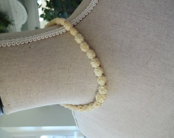 Vintage Art Deco Carved Celluloid Necklace 9ct Yellow Gold Clasp Boxed