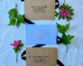 The Bohemian | Wedding Addressed Invitations | Addressed Invitations | Hand Lettered Invitations