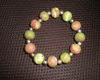Viva Beads Stretch  Bracelet Green