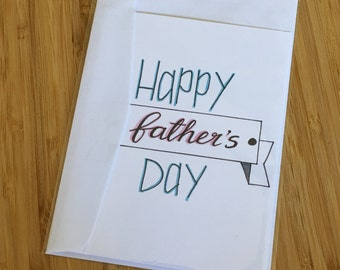 CARD - Happy Father's Day - Father's Day/Dad's Birthday Greeting Card
