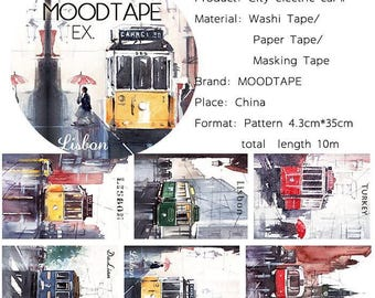 City Washi Tape electric car 2,scrapbooking stickers,DiY,Paper Decorative masking Tape
