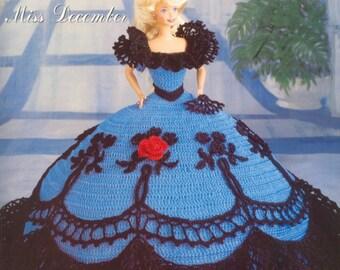 3. Barbie doll dress, crochet pattern in pdf