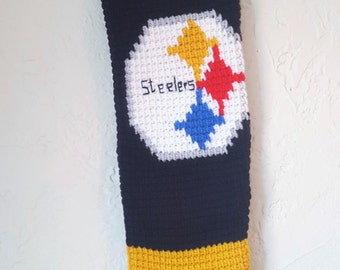 "Crochet ""Steelers"" Christmas Stocking"