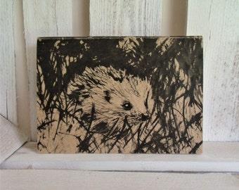 Hedgehog Eco Notebook / Pocket Book / Sketch Book