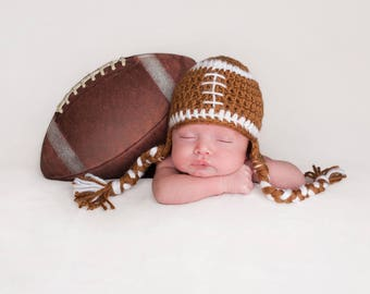 Infant Football Crochet Hat