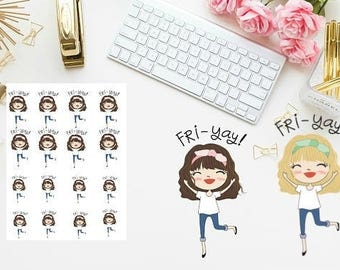 Fir-Yay girl Planner stickers