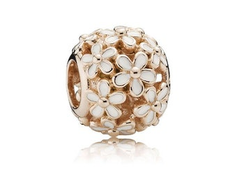 Authentic Pandora Rose Gold DARLING DAISY MEADOW Charm Bead