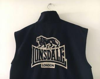 Lonsdale Biglogo Sleeveless Pile Sweatshirt  Vintage 90s
