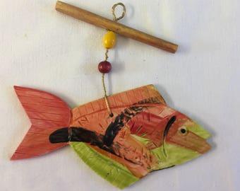 Hanging Ceramic Fish Ornament,