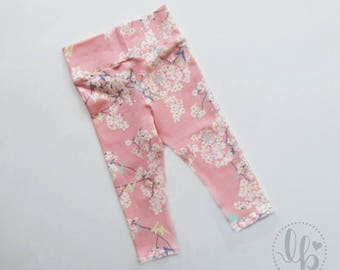 baby tights - cherry blossoms