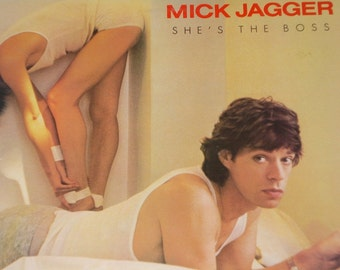 Mick Jagger vinyl record album, She's The Boss vintage vinyl record