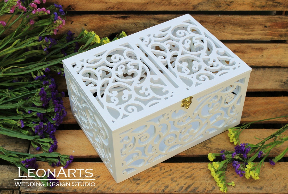 Wedding Card Box Wedding Gift Plywood Box Love Story Keepsake Box