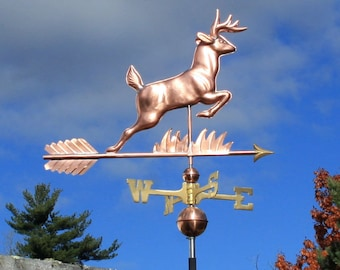 Copper Leaping Deer Weathervane - BH-WS-516