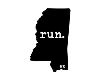 Run MS State Outline Magnet