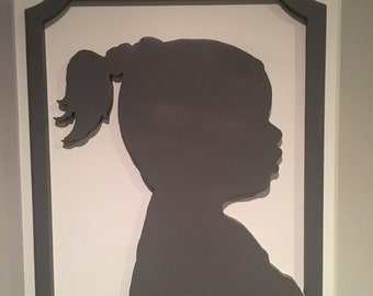 Wood Cutout - Child Silhouette Cut Out - Mother's Day