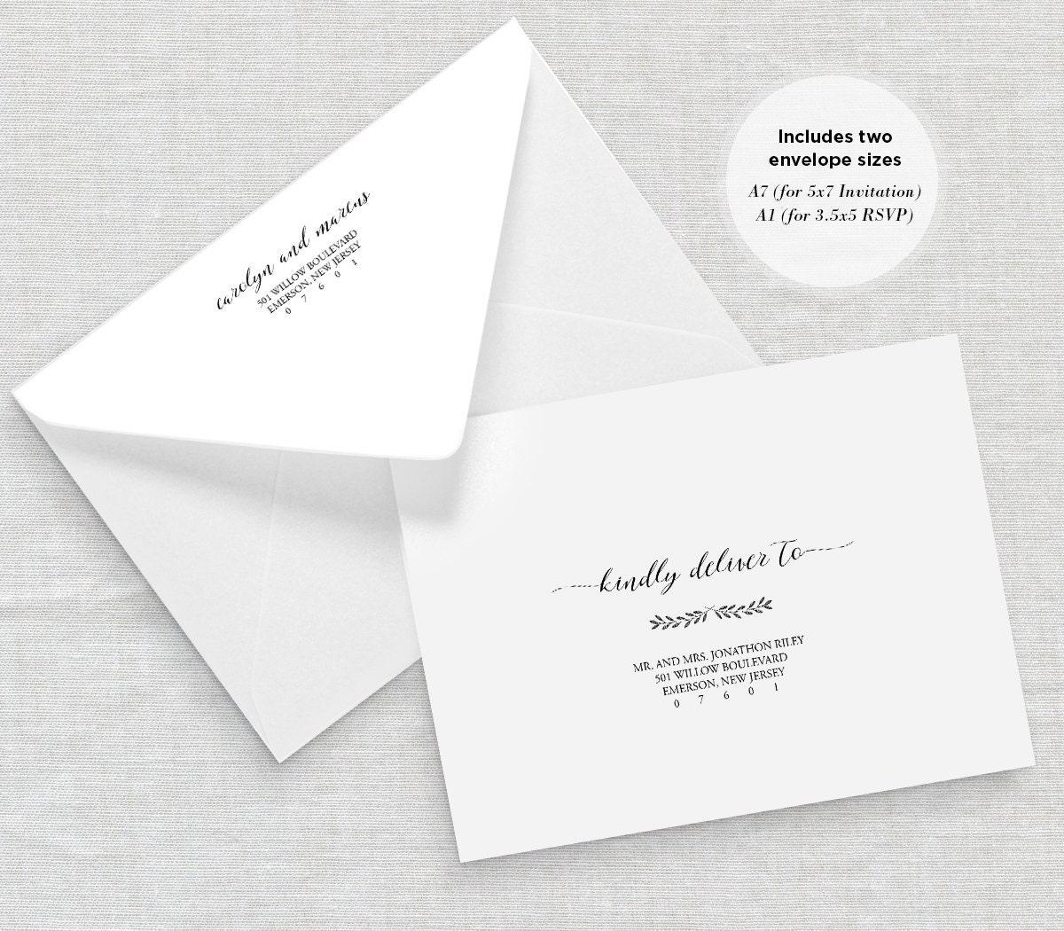 Envelope Template DIY Printable Wedding Envelope Template – Calligraphy Paper Template