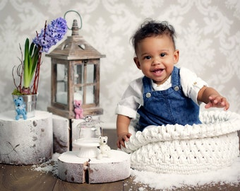 Crochet newborn basket, Baby photo props, Crochet basket, Baby props, Baby bowl, Crochet bowl, Newborn photo prop