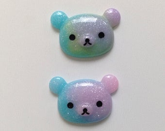 galaxy rilakkuma cabochons set (2 pcs)