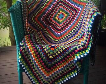 Crochet Afghan Throw Blanket - 'Siesta'
