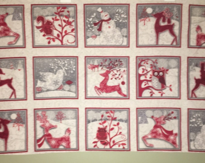 Holiday Frost Flannel Fabric by Henry Glass & Co, Inc