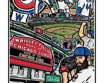 Chicago Cubs Art Print 8x10