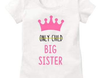 Big sister announcement shirt, Big sister to be, pregnancy announcement