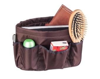 Handbag insert - Bag organiser - Handbag Caddy - Purse insert - Brown insert-Brown bag organizer