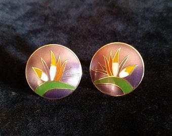 Laurel Burch  Bird of Paradise Earrings