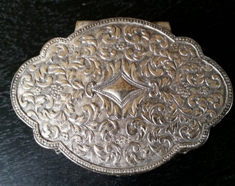 Small Silver Jewelry or Trinket Box