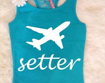 Girl's Jet Setter Tank Top . Jetsetter Tank . Jet setter Tshirt . Girl's Tank . Jet setter Top . Travel Tank  Travel Shirt #Jetsetter