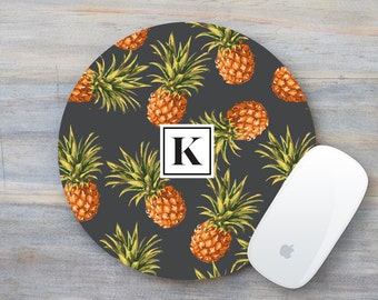 Pineapple Mouse Pad, Mouse Pad, Monogram Mouse Pad, Pineapple Decor, Boss Gift, Gift for Boss, Gift for Coworker, Mousepad