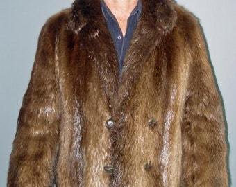 MEN'S NATURAL BEAVER Coat size 42