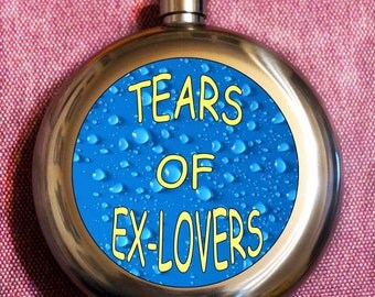 Flask tears of ex-lovers, fanny flask, hip flask, flask fanny, flask for women, women flask, flask for her, birthday flask, bride gift