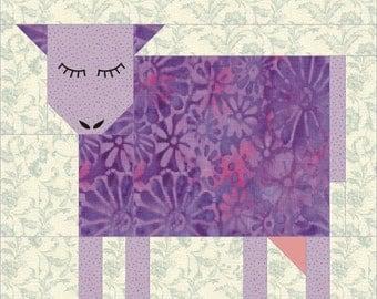 Patch Cow quilt block pattern