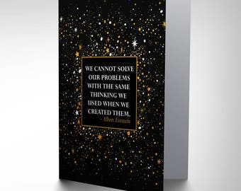Einstein Quote Card, Motivational Card, Birthday Card, Inspirational Card Cp3245