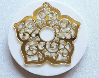 Silicone rubber mould-inlaid flower