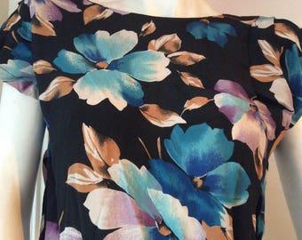 SALE// Floral vintage dress/ size XS