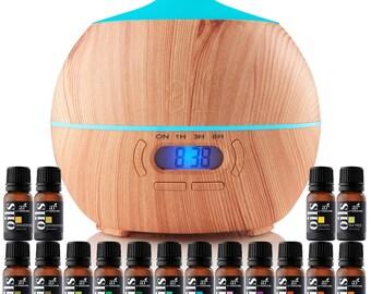 Art Naturals Bluetooth Oil Diffuser 400ml & Top 16 Essential Oil Set