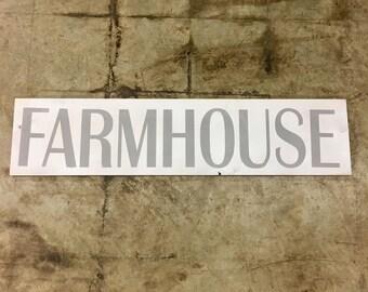 White Farmhouse Sign