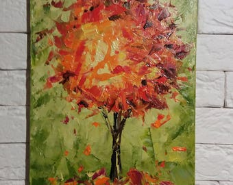 Original oil painting Tree Interior decor Wall Decor Landscape painting Abstract painting Impasto modern Gift for her housewarming gift
