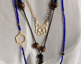 Lot of three necklaces a wear together or separate